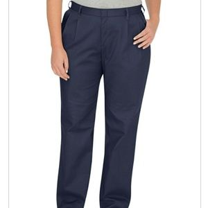 Women's Dickies Navy Blue Relaxed Pleat Front 20